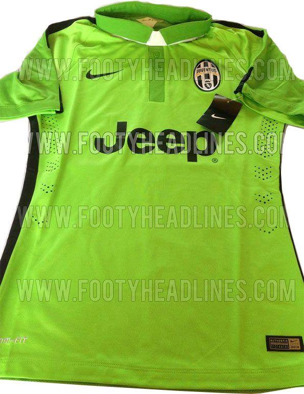 Anteprima terza maglia Juventus 2014-15 verde