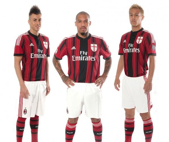 Kit Milan home 2014-15 adidas
