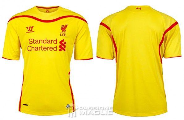 Seconda maglia Liverpool 2014-15 Warrior
