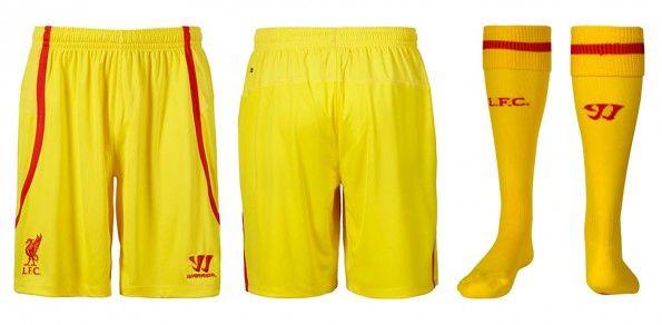 Pantaloncini calzettoni Liverpool away 14-15