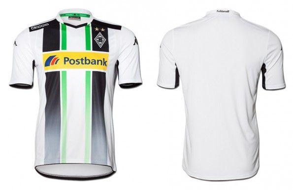 La maglia Kappa del Borussia Monchengladbach per il 2014-2015