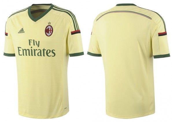 Terza maglia Milan 2014-15 gialla
