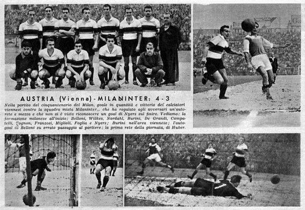 MilanInter-Austria Vienna, 1949, maglia fasciata