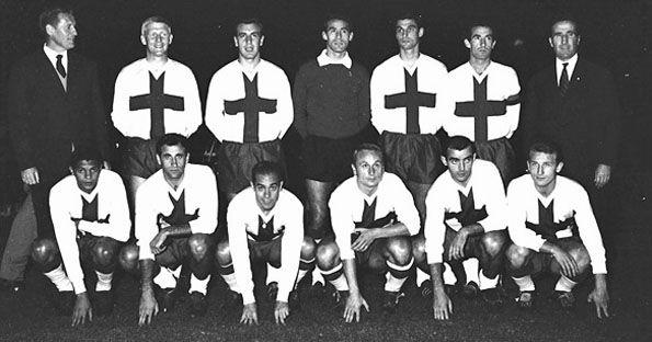 MilanInter-Chelsea, 1965, maglia crociata