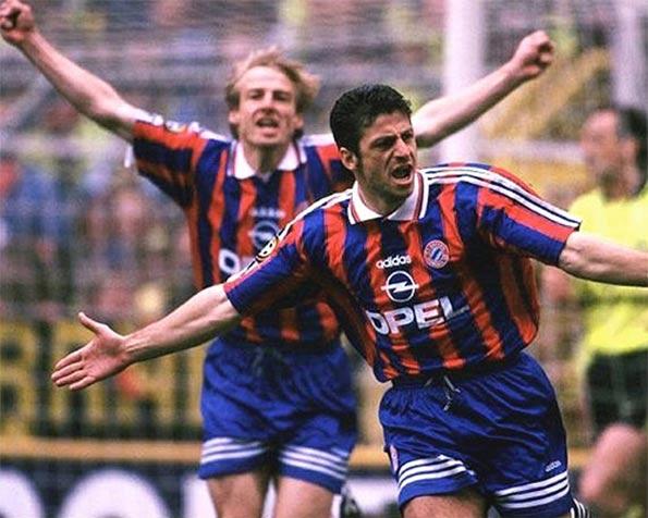 Rizzitelli e Klinsmann Bayern 1996-97