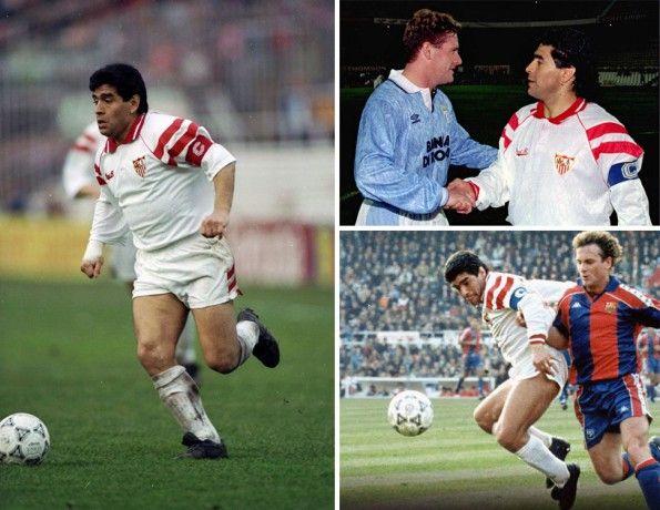 Siviglia 1992-1993, maglia home, Maradona