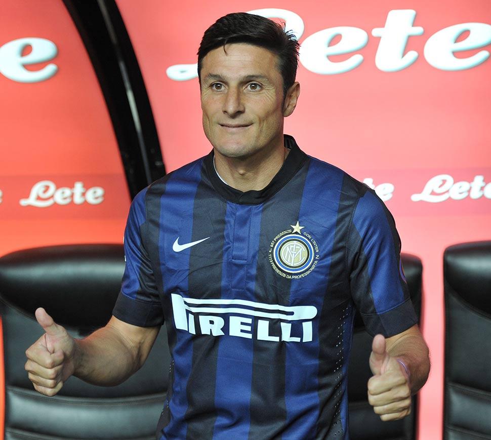 Maglia speciale Zanetti ultima partita Inter