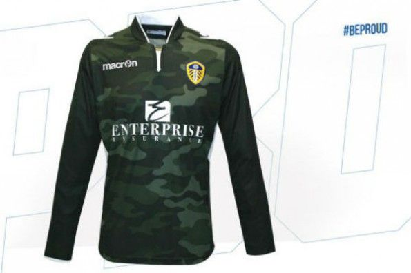 Maglia portiere Leeds 2014-2015 camouflage