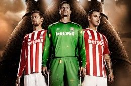 Stoke City kit 2014-2015 Warrior