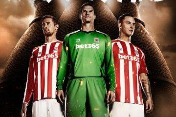 Stoke City kit 2014-2015 Warrior
