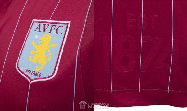 Aston Villa 2014-15 dettagli maglia
