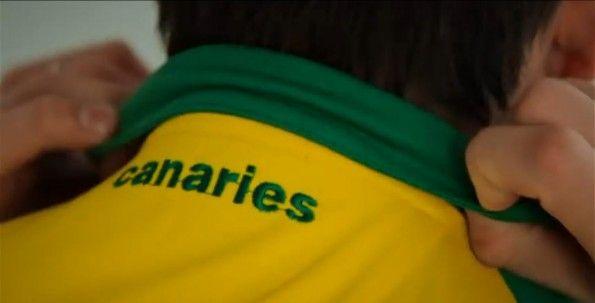 Ricamo Canaries collo Norwich 2014-15