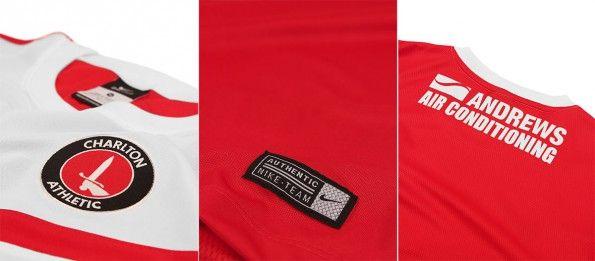 Dettagli prima maglia Charlton 2014-15