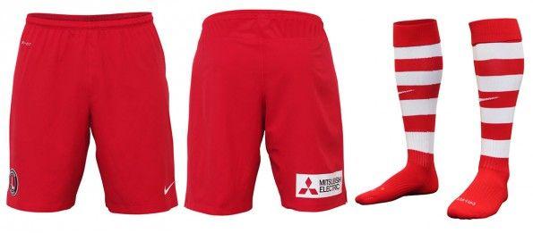Charlton pantaloncini calzettoni home 2014-15