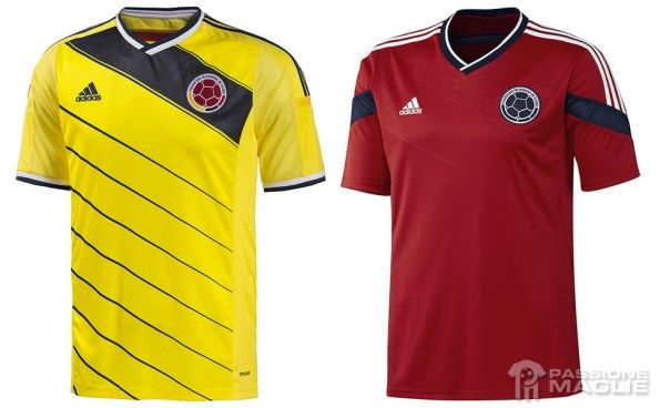 Maglie Colombia Mondiali 2014 adidas