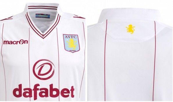 Dettagli maglia da trasferta Macron Aston Villa 2014-2015