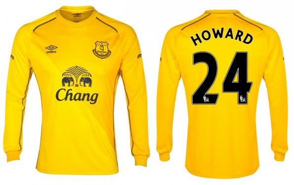 Everton maglia portiere 2014-15 gialla