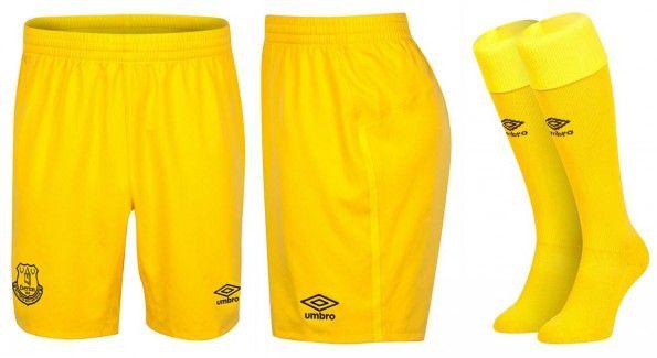 Everton calzoncini calze portiere 2014-15