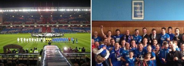 La fedeltà Rangers a Union Jack e Corona