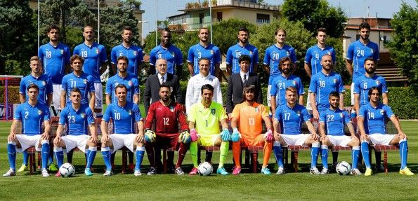 Foto ufficiale Italia Mondiali 2014