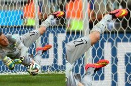 Julio Cesar para rigori con Hypervenom Nike