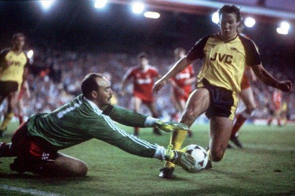 Liverpool-Arsenal, 1989, Bruce Grobbelaar, Paul Merson