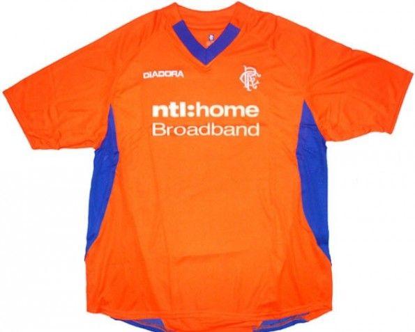 Maglia Rangers 2002-2003 arancione