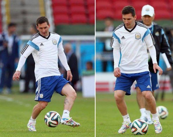 Allenamento Messi scarpe F50 compleanno