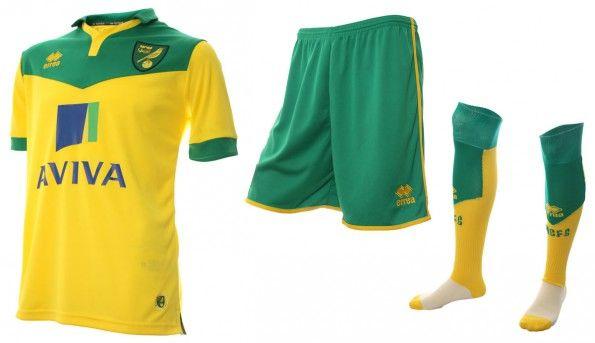 Prima maglia Norwich 2014-2015