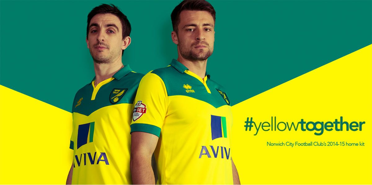 Norwich City kit home 2014-2015