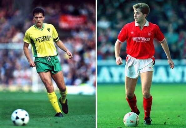 Norwich City e Nottingham Forest, maglie home, 1988-1989