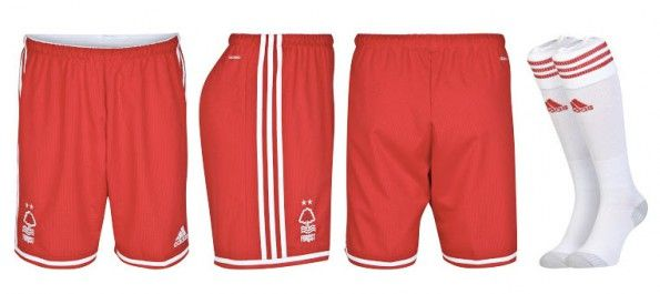 Pantaloncini calzettoni Nottingham Forest away 2014-15