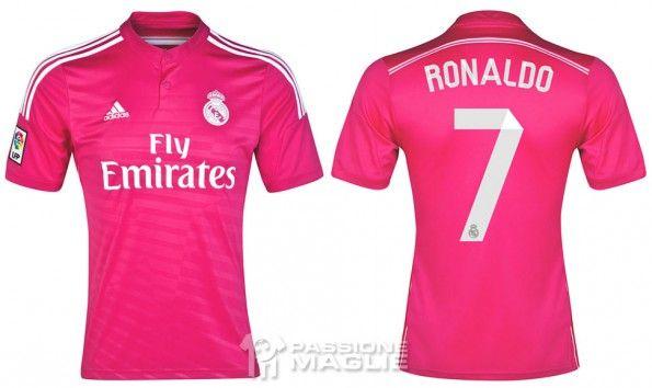 Seconda maglia Real Madrid 2014-15 rosa