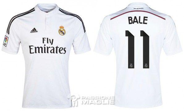 Maglia Real Madrid 2014-15 Bale