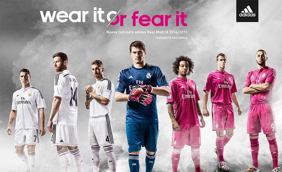Maglie Real Madrid 2014-2015 adidas, novità il rosa away
