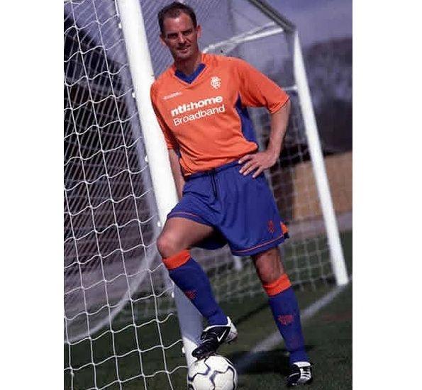 Ronald De Boer divisa arancione Rangers 2002-2003