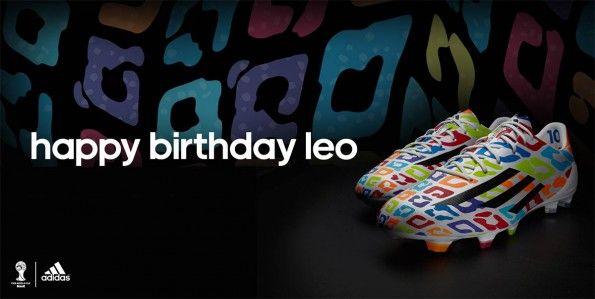 Scarpe F50 compleanno Messi