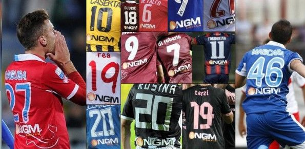 Sponsor NGM maglie Serie B 2013-2014