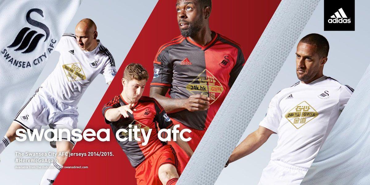 Maglie Swansea 2014-15 adidas