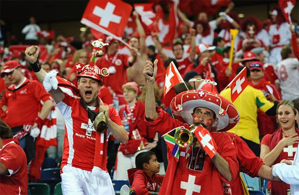 Tifosi Svizzera calcio