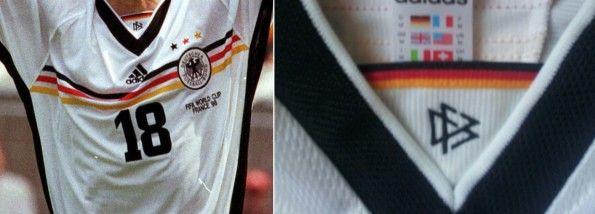 Dettagli maglia Germania Mondiale 1998