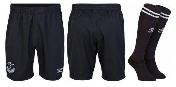 Everton pantaloncini calzettoni neri 2014-15