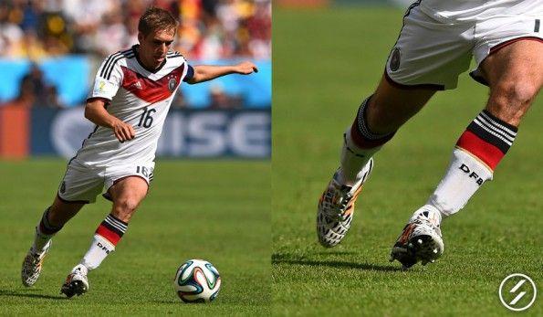 Lahm con le 11pro di adidas ai Mondiali