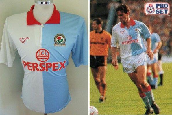 Maglia Blackburn 1990-1991 Ribero
