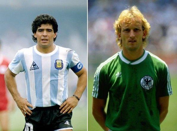 Maglie Germania e Argentina finale 1986