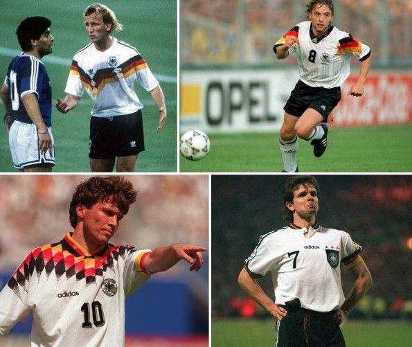 Maglie della Germania 1990-1992-1994-1996