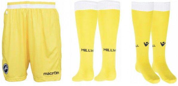 Calzoncini calzettoni Millwall away 2014-2015