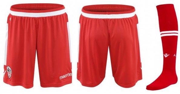Ajaccio pantaloncini calzettoni home 2014-15