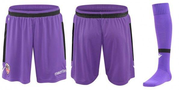 Ajaccio pantaloncini calze viola 2014-15