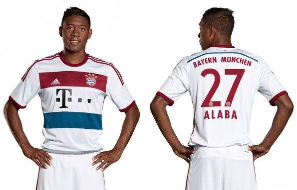 Alaba seconda maglia Bayern Monaco 2014-2015